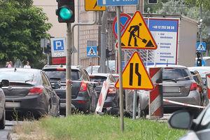 Prace drogowe na Kętrzyńskiego w Olsztynie