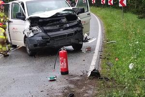 Uwaga! Trasa Orzysz-Ełk zablokowana! Wypadek!