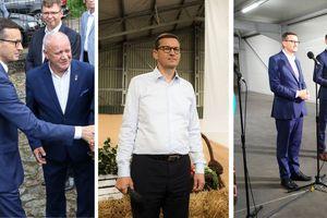 Co łączy Miłakowo, Brzydowo i Dobre Miasto? Odwiedził je premier Morawiecki. Dlaczego? Bo ma tam wysokie poparcie