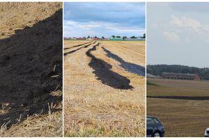 Czarna maź na polach w Byszwałdzie i Targowisku. Czy to zgodne z prawem?