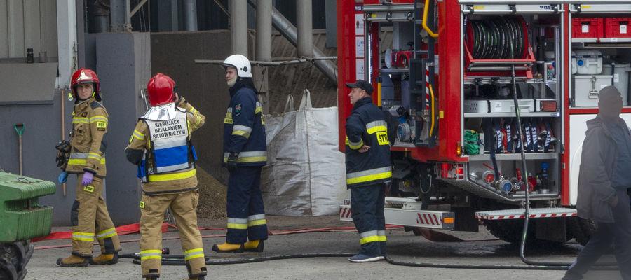 Strażacy podejmują działania aby maksymalnie zminimalizować straty