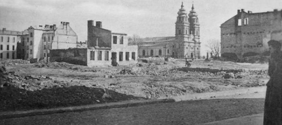 Mława po bombardowaniu w 1939 roku