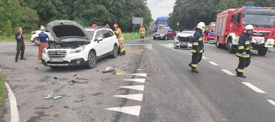 Zderzenie samochodów na DK15 między Ostródą a Lubawą