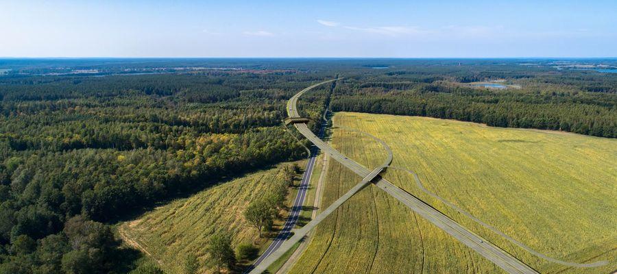 Wizualizacja drogi S16 przez Mazury