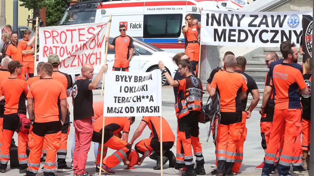 protest ratowników medycznych
