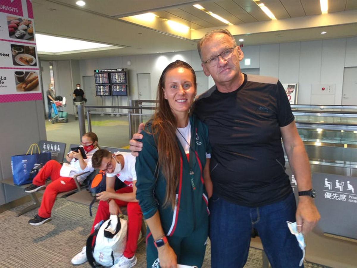 Z Alicją Jeromin, brązową medalistka w biegu na 200 m