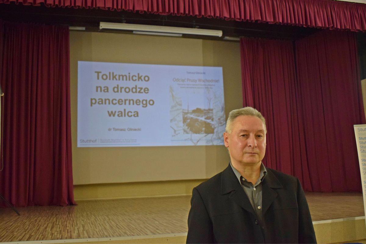 Tomasz Gliniecki opowiedział o wydarzeniach, które rozegrały w 1945 w Tolkmicku