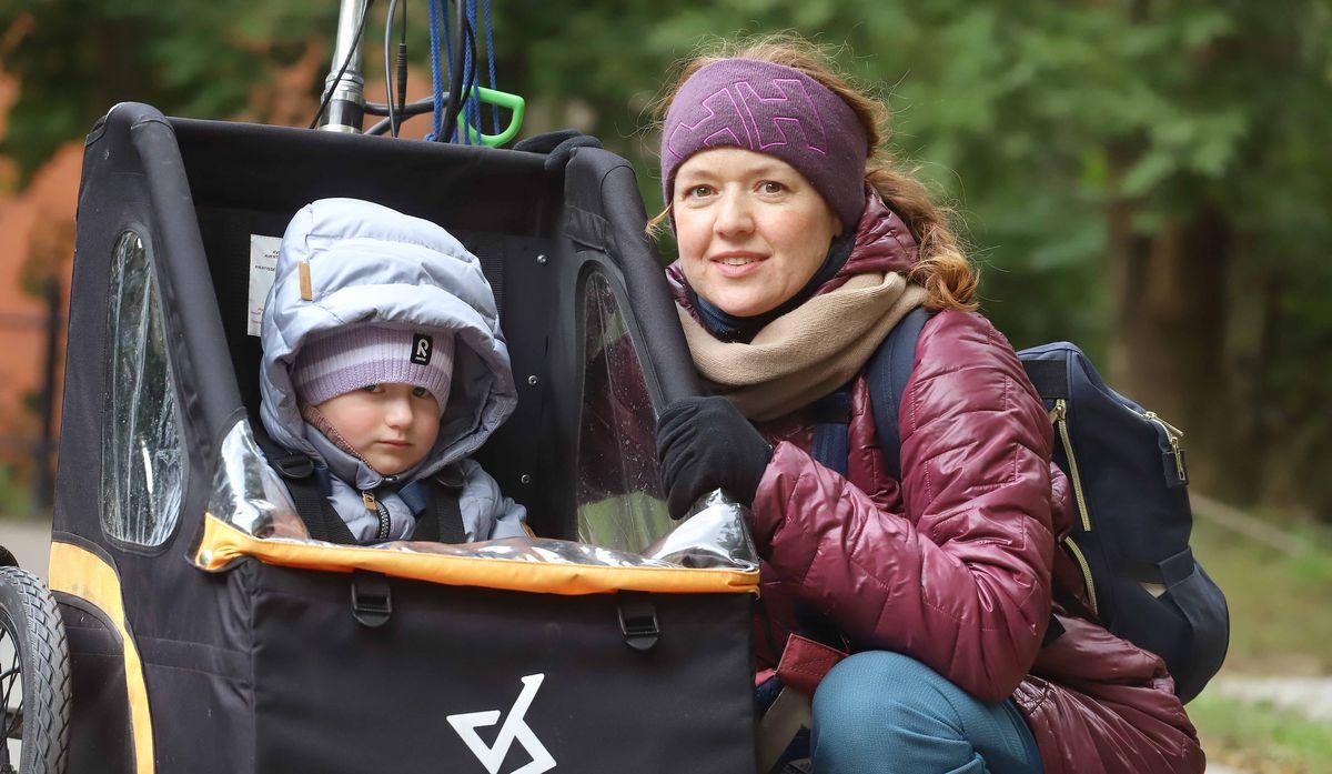 Anna Niegorska z córeczką