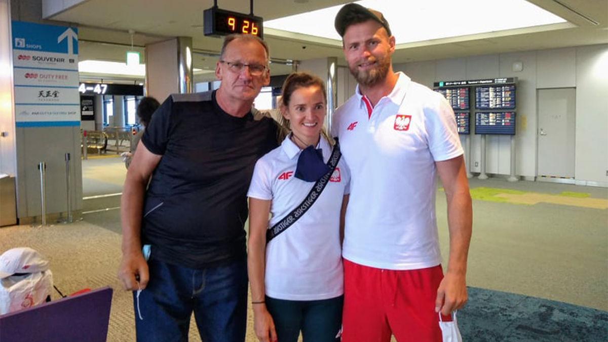 Z Joanną Mazur i jej przewodnikiem Michałem Witwickim. Joanna jest niewidoma