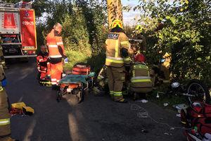 Zmarł motorowerzysta ranny w wypadku w Prositach
