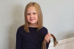8-letnia Kaja ze Szczytna ścięła włosy, bo chciała pomoc innym