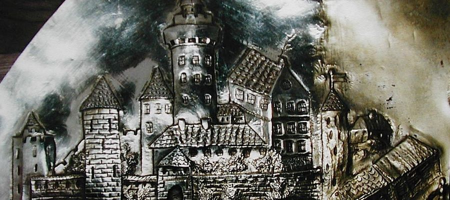 Wizerunek zamku w Bratianie z niszy obrazu łąkowskiego w nowomiejskiej bazylice