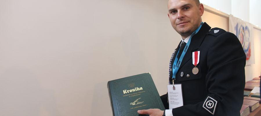Grzegorz Podolak, kronikarz OSP Dąbrówno