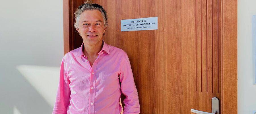 Prof dr. hab. Mariusz Rutkowski, dyrektor Instytutu Językoznawstwa UWM