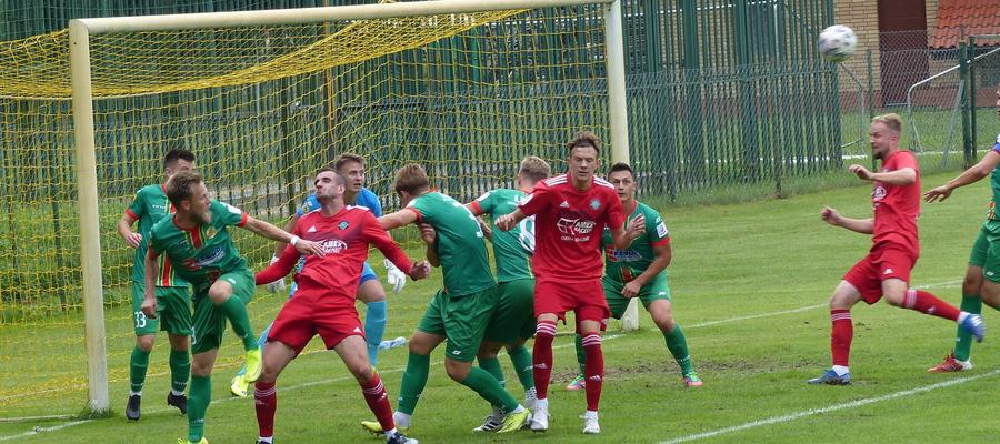 GKS Wikielec w ataku, tu akurat podczas meczu z Lechią Tomaszów Maz.
