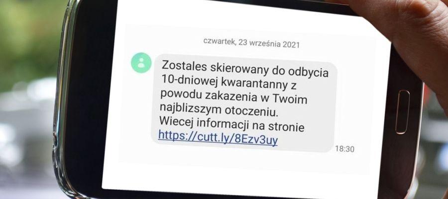 """Przestępcy wysyłają fałszywe SMS-y od nadawcy """"Kwarantanna"""""""