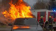 Pożar samochodu w Komorowie Żuławskim [AKTUALIZACJA]