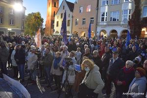 Prezydent Aleksander Kwaśniewski w Olsztynie. Mieszkańcy chcą zostać w Unii Europejskiej