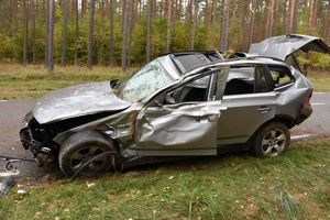 Wypadek pod Jabłonią, kierowca w szpitalu