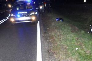 Motocyklista wpadł do rowu