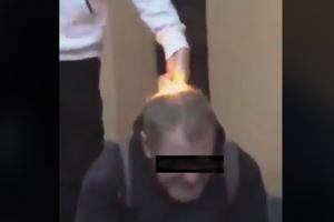 Podpalili im głowy i nagrali z tego filmik