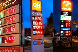 Ceny paliwa w Olsztynie idą w górę. Niebezpiecznie zbliżają się do 6 złotych