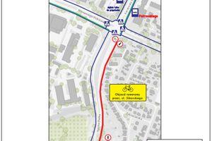 Zmiana organizacji ruchu pieszo-rowerowego na ul. Synów Pułku od 08 października 2021 roku.