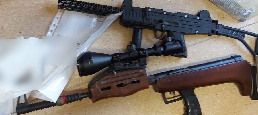 Marihuana i broń na ostrą amunicję