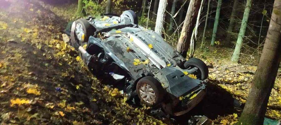 Śmiertelny wypadek na trasie Ukta-Mikołajki