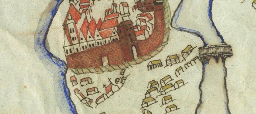 Rycina przedstawiająca dawną Iławę