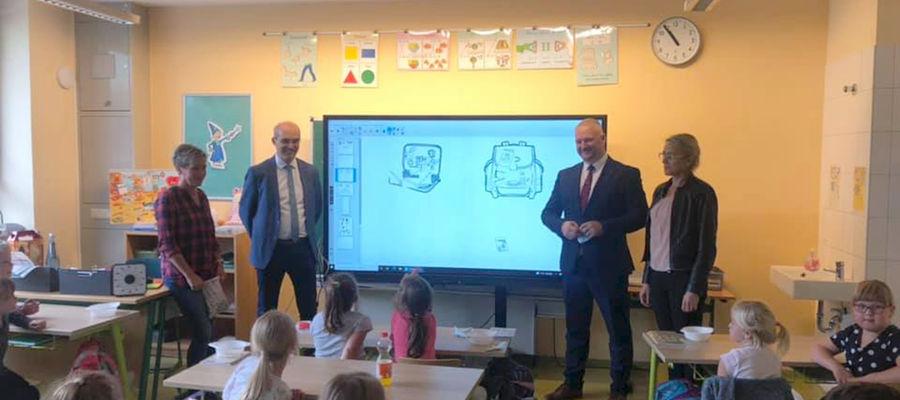 Wizyta w miejscowej szkole w Arendsee